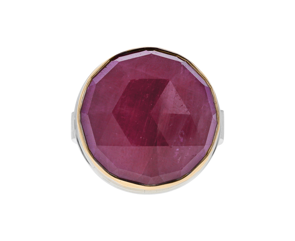 Round Rose Cut Indian Ruby Ring