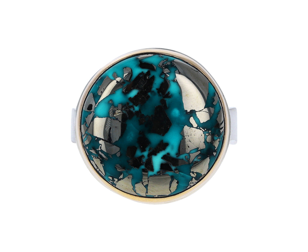 Round Persian Turquoise Ring