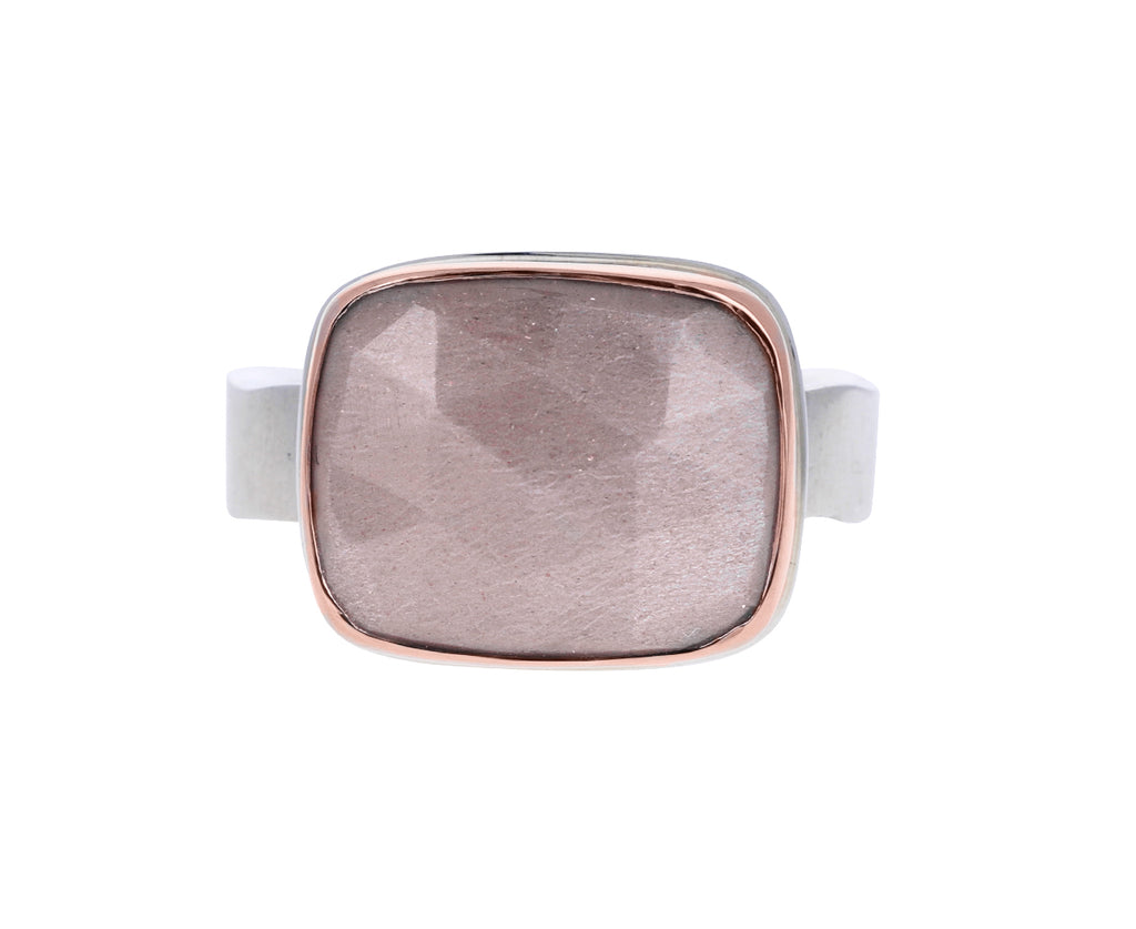Rose Cut Chocolate Moonstone Ring