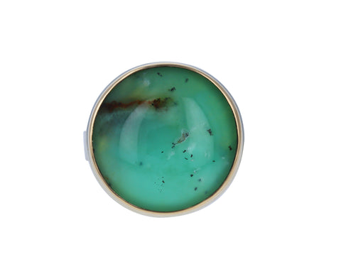 Dendritic Chrysoprase Ring