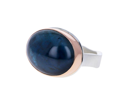 Oval Blue Tourmaline Ring