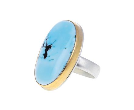 Oval Lone Mountain Turquoise Ring