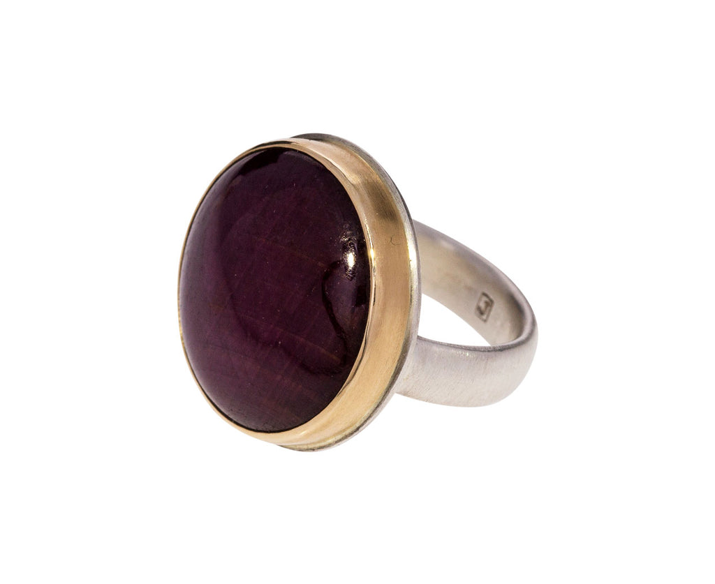 Round Indian Ruby Ring