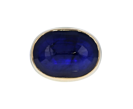 Oval Faceted Blue Sapphire Ring - TWISTonline