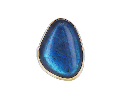 Asymmetrical Labradorite Ring