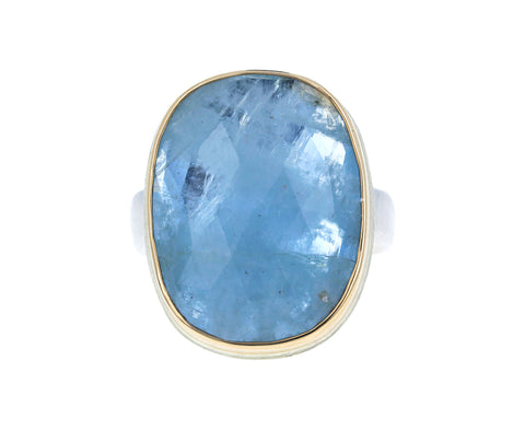 Vertical Rose Cut Aquamarine Ring - TWISTonline