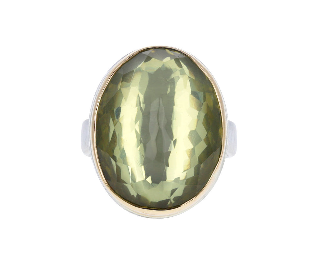 Inverted Lemon Quartz Ring