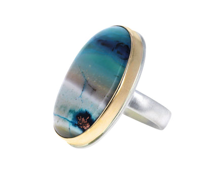 Indian Fossilized Opalized Wood Ring