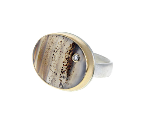 Montana Agate Diamond Ring