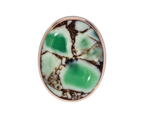 Chrysoprase and Copper Ring