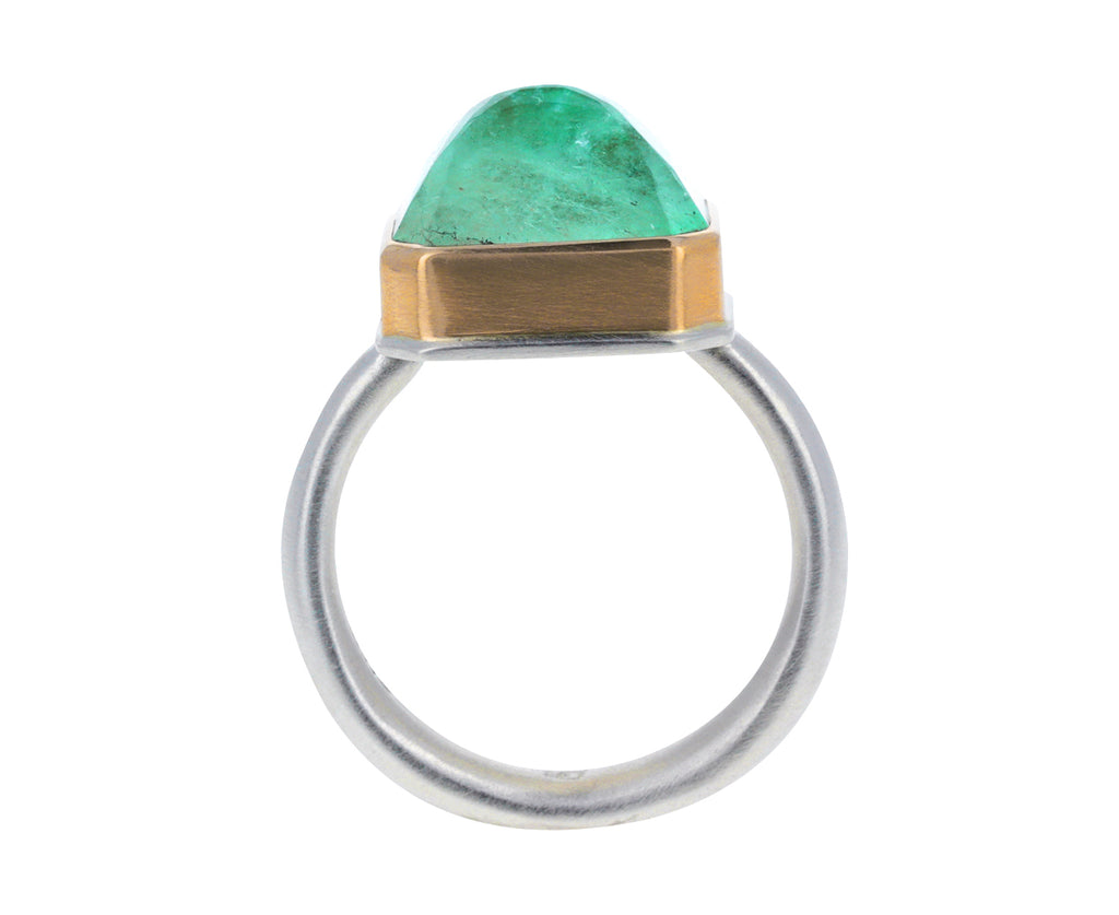 Square Inverted Emerald Ring