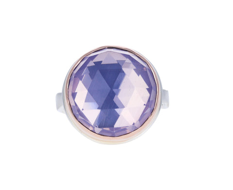 Rose Cut Lavender Amethyst Ring