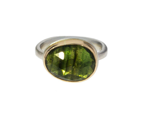 Asymmetrical Green Tourmaline Ring zoom 1_jamie_joseph_gold_asymmetrical_green_tourmaline_