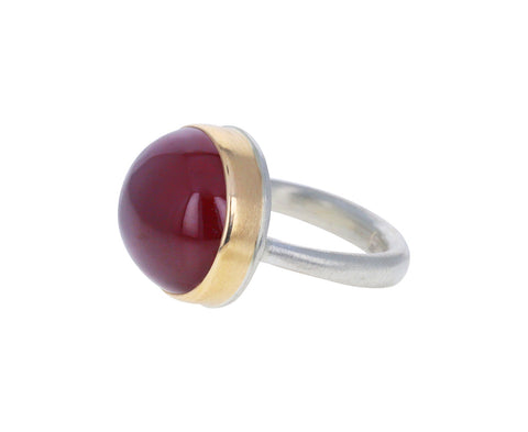 Smooth African Ruby Ring