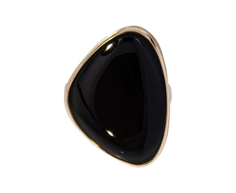 Asymmetrical Rainbow Obsidian Ring