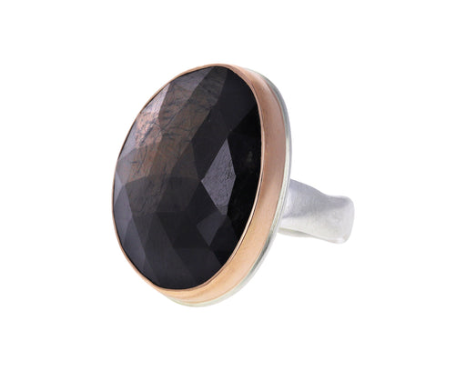 Rose Cut Brown Sapphire Ring