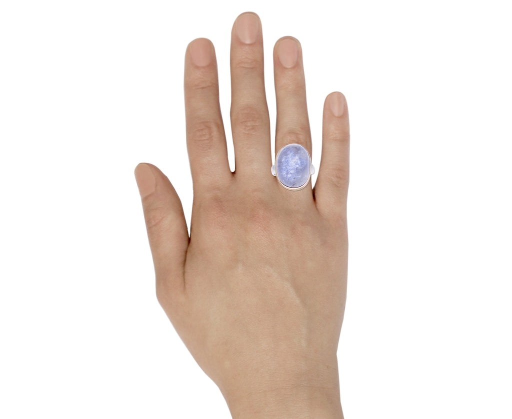 Dumortierite Quartz Ring