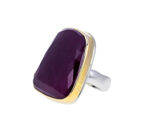 Large Asymmetrical Indian Ruby Ring