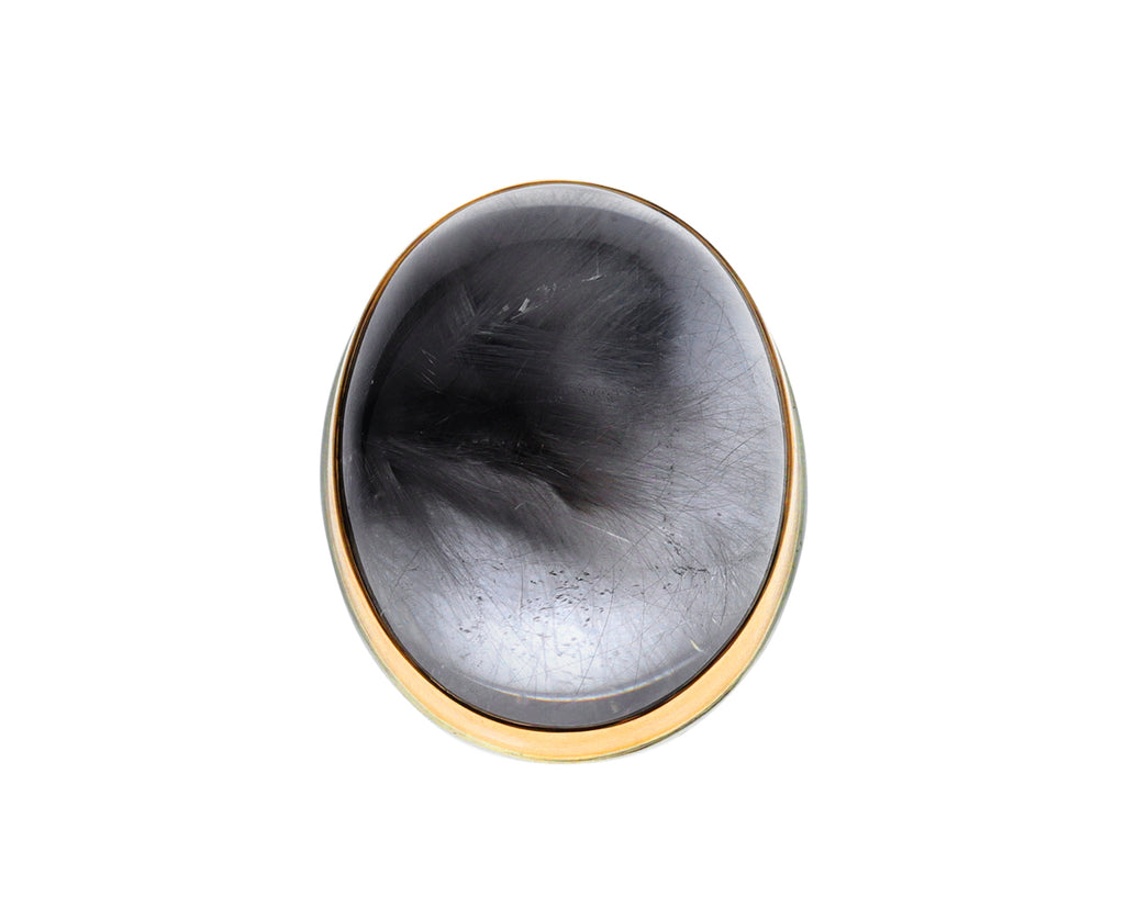 Oval Smooth Brookite Ring