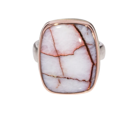 Rectangular Copper in Quartz Ring
