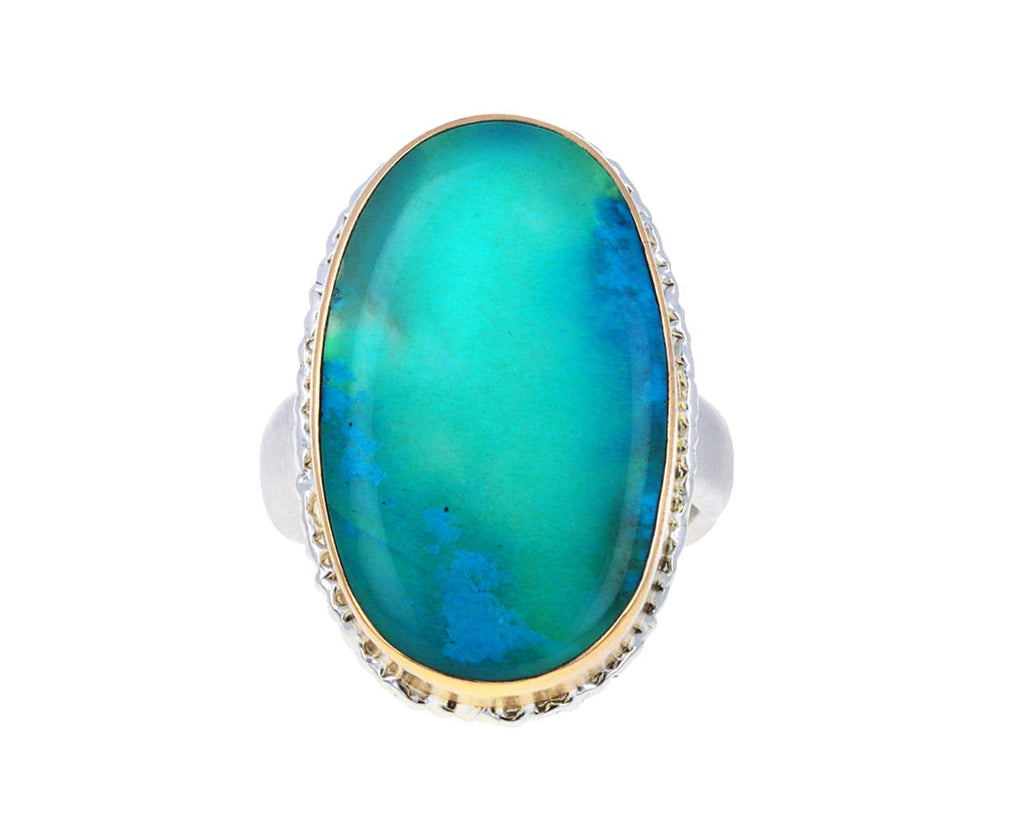 Smooth Oval Chrysocolla Ring