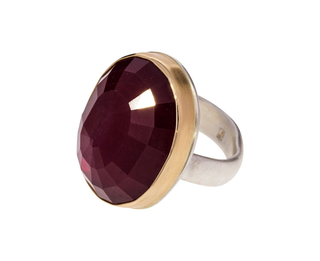 Large Inverted Oval African Ruby Ring - TWISTonline