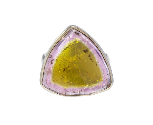 Watermelon Tourmaline Slice Ring - TWISTonline