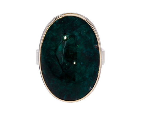 Oval Dioptase Ring