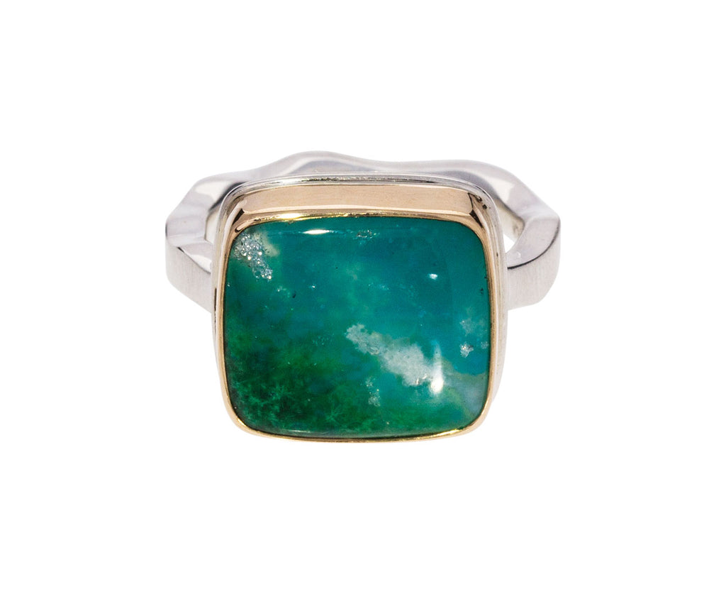 Square Gem Silica Ring