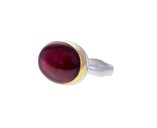 Oval Smooth African Ruby Ring