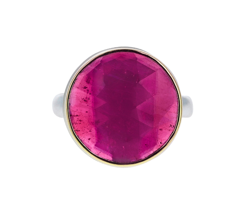 Rose Cut Round African Ruby Ring