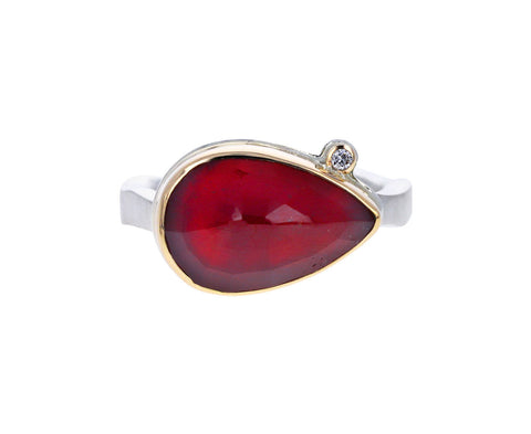 African Ruby and Diamond Ring