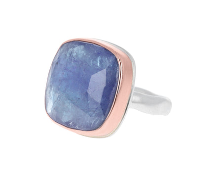 Square Rose Cut Tanzanite Ring