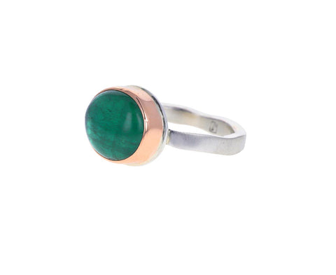 Small Oval Blue Green Tourmaline Ring