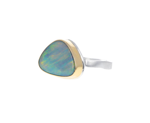Triangular Australian Opal Ring