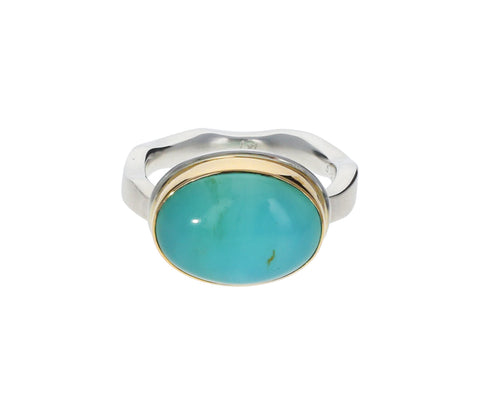Smooth Peruvian Opal Ring