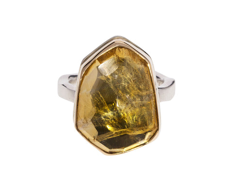Asymmetrical Citrine Ring