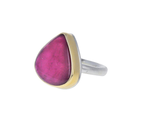 Smooth Lotus Pink Tourmaline Ring
