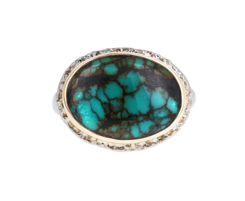 Oval Hubei Turquoise Ring