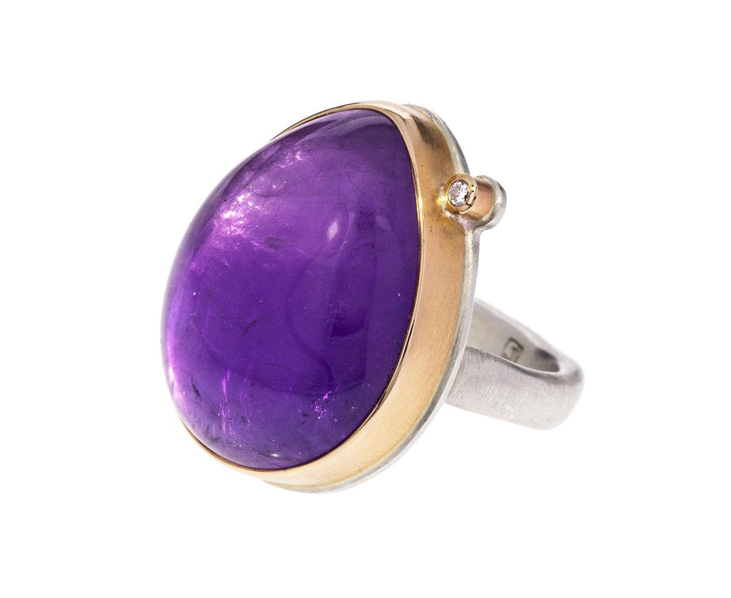 Teardrop Amethyst and Diamond Ring - TWISTonline