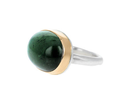 Oval Green Tourmaline Ring