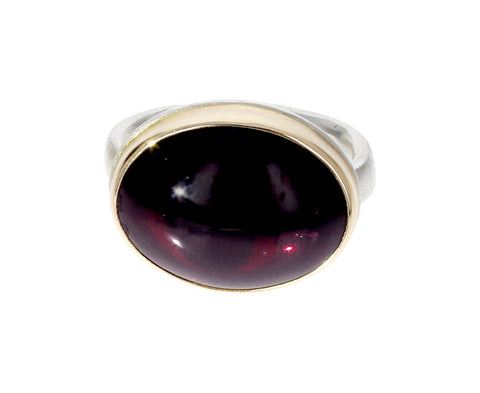 Oval Hessonite Garnet Ring