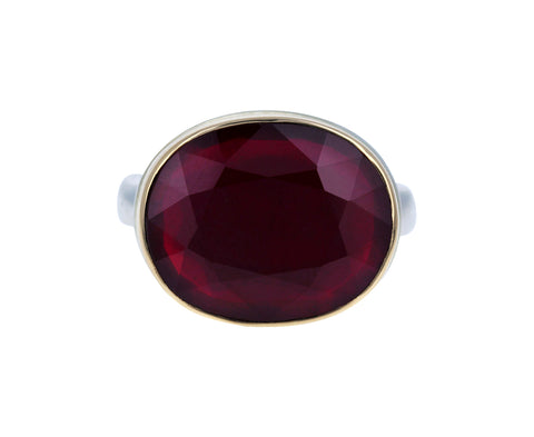 Oval African Ruby Ring - TWISTonline