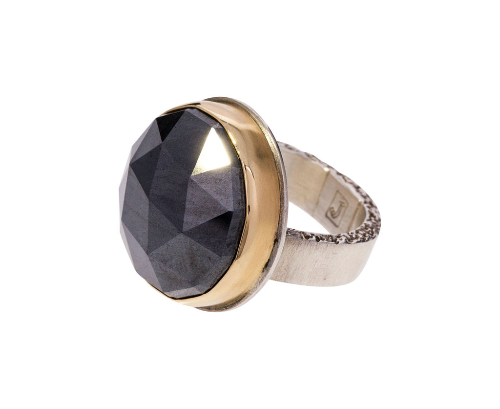 Rose Cut Hematite Ring - TWISTonline