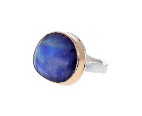 Blue Rainbow Moonstone Ring