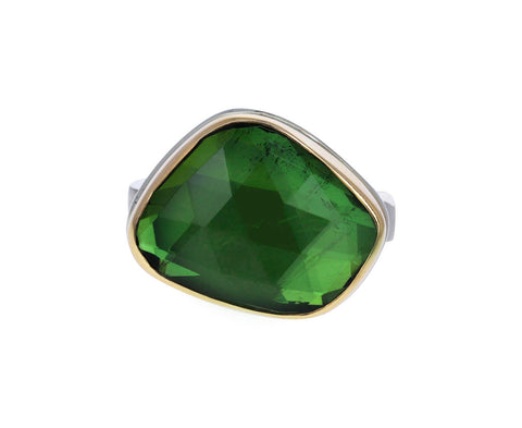 Aymmetrical Green Tourmaline Ring