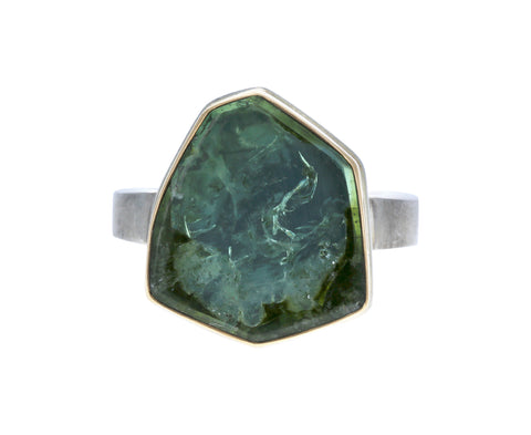 Asymmetrical Green Tourmaline Ring - TWISTonline