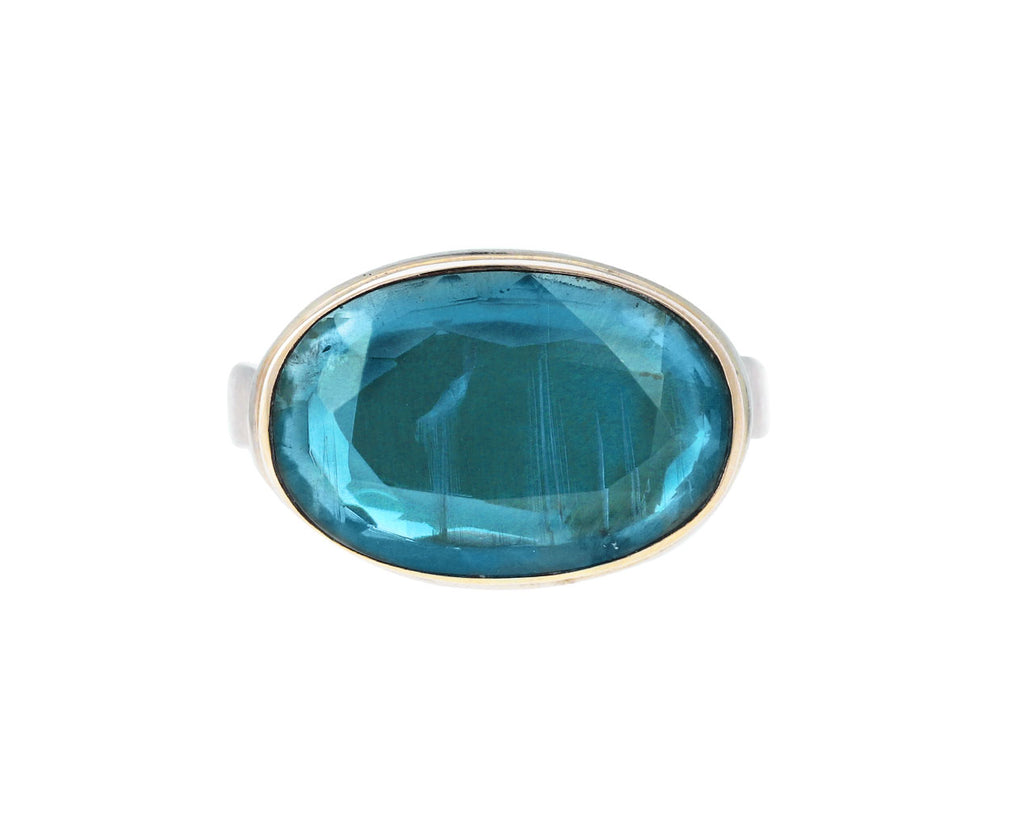 Table Up Blue-Green Kyanite Ring