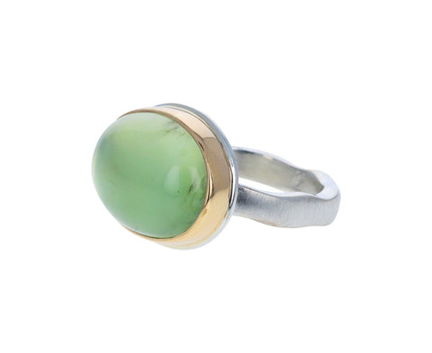 Smooth Prehnite Ring