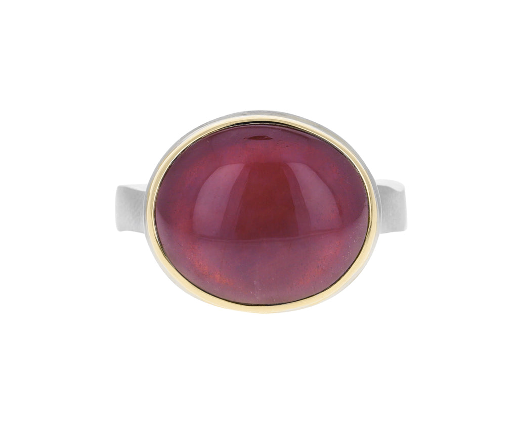 Smooth Oval African Ruby Ring